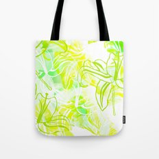 Green Flowers Tote Bag