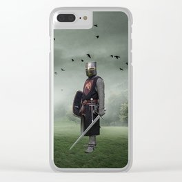 Cowardly Steed Clear iPhone Case