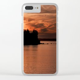 Red Sky At Night Photography Print Clear iPhone Case