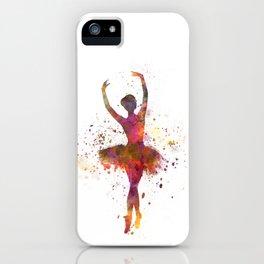 Woman ballerina ballet dancer dancing  iPhone Case