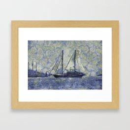 The Ship Van Goth Framed Art Print