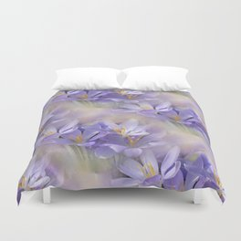 flowers -3- seamless pattern Duvet Cover