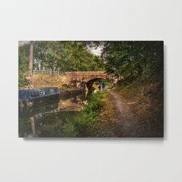 Towpath to Pewsey Bridge Metal Print