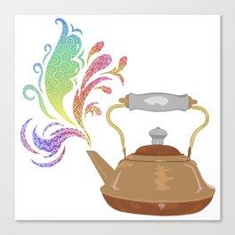 Teapot Tempera Canvas Print