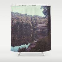 cabin Shower Curtains featuring Julia Cabin by Noah Loethen