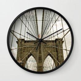 Brooklyn Bridge NYC Wall Clock