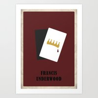 house of cards Art Prints featuring House of Cards - Frank by Bronlynn Thurman