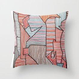 Bridget Riley Throw Pillow