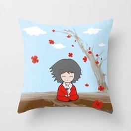 Zen state of mind Throw Pillow