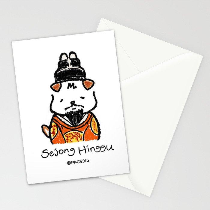 Hinggu_King Sejong_Korea Jindo Dog illustration Stationery Cards