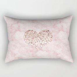 Rose gold - heart Rectangular Pillow