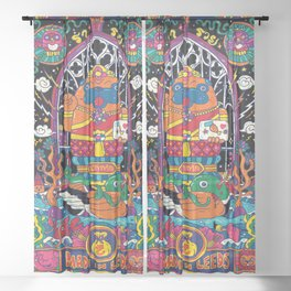 Pug Nang Kwak – Thai Goddess Of Wealth Sheer Curtain