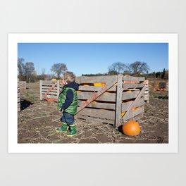 Where Is My Pumpkin? Art Print