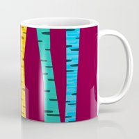 birch Mugs featuring Birch forest by Colorshop