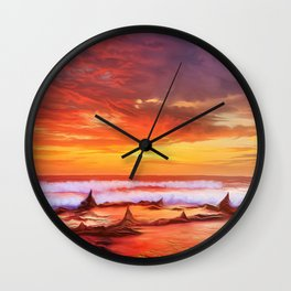 Evening flame Wall Clock