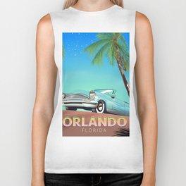 Orlando Florida vintage travel poster, Biker Tank