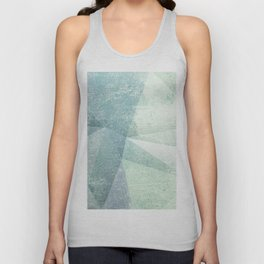 Frozen Geometry - Teal & Turquoise Unisex Tank Top