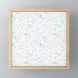 Lovely Colorful Floral Ditsy Pattern Framed Mini Art Print