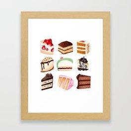 Yummy Cakes Framed Art Print