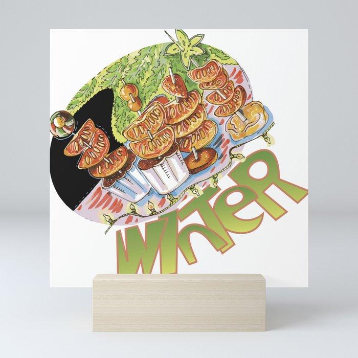 winter snack Mini Art Print