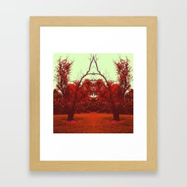 Red Reflection Framed Art Print