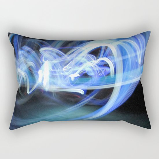(Mostly) Blue Light Painting Rectangular Pillow