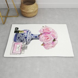 Chinoiserie decor with flowers Rug