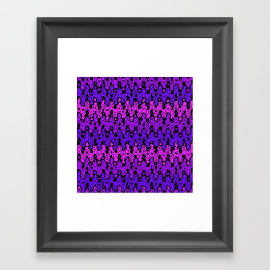 Warped Chevrons Framed Art Print