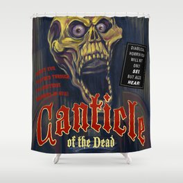 """Canticle of the Dead"" Movie Poster Shower Curtain"