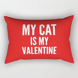 MY CAT IS MY VALENTINE (Red) Rectangular Pillow
