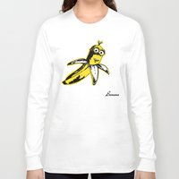 banana Long Sleeve T-shirts featuring Banana by Thomas Orrow