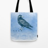 ravenclaw Tote Bags featuring WordPlay 2: Ravenclaw by Sreetama Ray