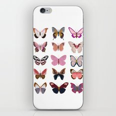 Pink Butterfly Collage iPhone & iPod Skin