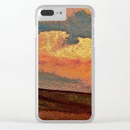 Sunset Over Saskatchewan Foothills Clear iPhone Case