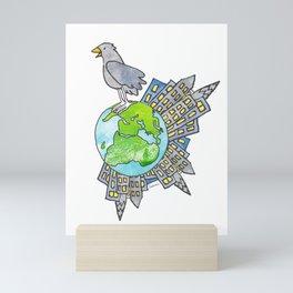 "Happy Alien Earth Bird (from the book, ""You, the Magician"") Mini Art Print"