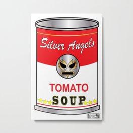 Lucha Soup can  Metal Print