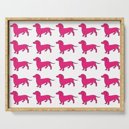 Doxie Love - Pink Serving Tray
