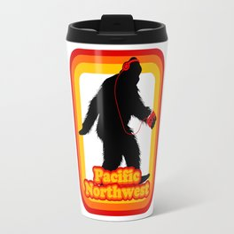 Retro Sasquatch Pacific Northwest Travel Mug