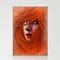 redhead Stationery Cards featuring redhead by Nuria Mrtz. FotoArt