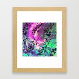 Jungle Glitch Framed Art Print