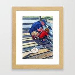 Crabbing Framed Art Print