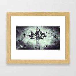 Swings at the Fair Framed Art Print