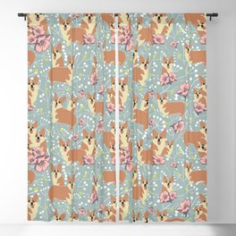 "The Pembroke Welsh Corgi Dog ""Dwarf Dog"" or Royal Corgis Blackout Curtain"