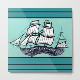 Oh, Ship. We're Going Down Metal Print