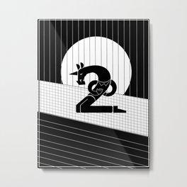 Two Bows Unicorn Metal Print