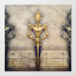 The Robot Knight Canvas Print