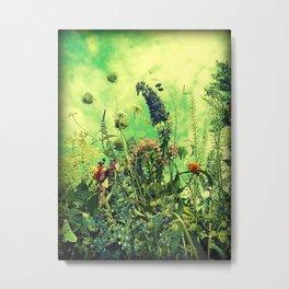 Wildflowers and Sky Metal Print