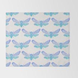 Summer Cicada – Blue Ombré Palette Throw Blanket