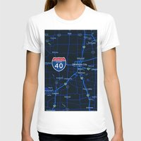 oklahoma T-shirts featuring oklahoma map by Larsson Stevensem