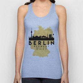 BERLIN GERMANY SILHOUETTE SKYLINE MAP ART Unisex Tank Top